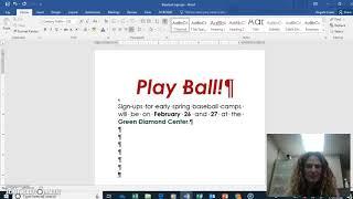Baseball Signups Flyer