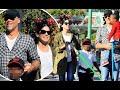 Sandra Bullock takes Louis and Laila to DisneyLand
