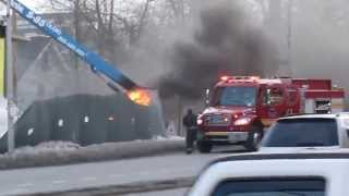 Fire accident in Whiteplains, New York