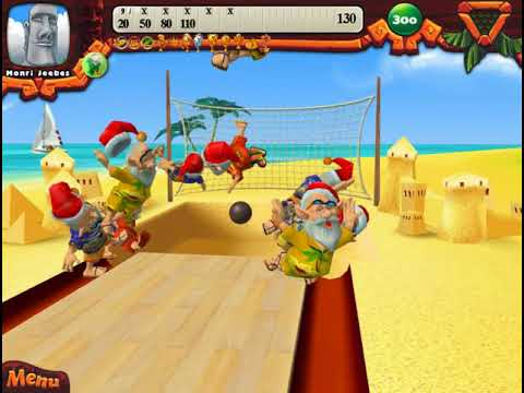 Elf Bowling: Hawaiian Vacation - Single Player - Nearly Perfect.