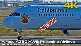New Airbus A350 XWB [4K] Philippine Airlines (RP-C3507)!