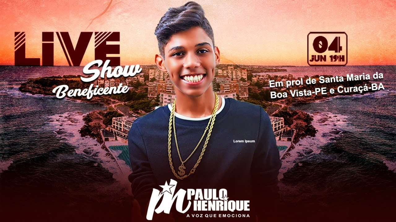 🔴 LIVE Show Beneficente PH Paulo Henrique [ AO VIVO ]