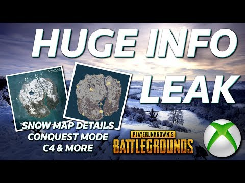 HUGE PUBG (Xbox/PC) Data Leak - SNOW MAP Details, Night Mode, C4, And More!!