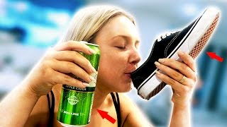 SHE DRANK BEER FROM HER SHOE!