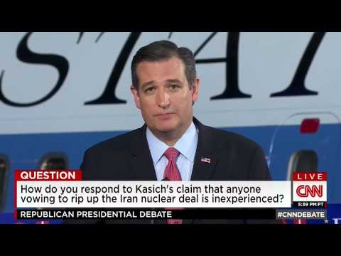 Ted Cruz: I'll Rip the Iranian Nuclear Deal to Shreds on Day One!
