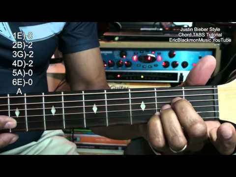 How To Play Justin Bieber Style Love Yourself Chord Shapes On Guitar w Lesson Links