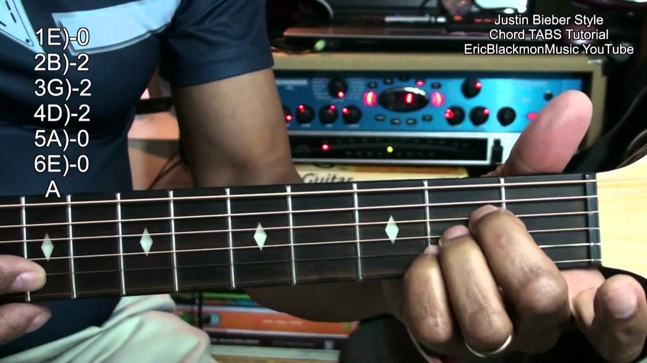 How To Play Justin Bieber Style Love Yourself Chord Shapes On Guitar