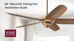 Altura DC 68 in. Ceiling Fan Installation