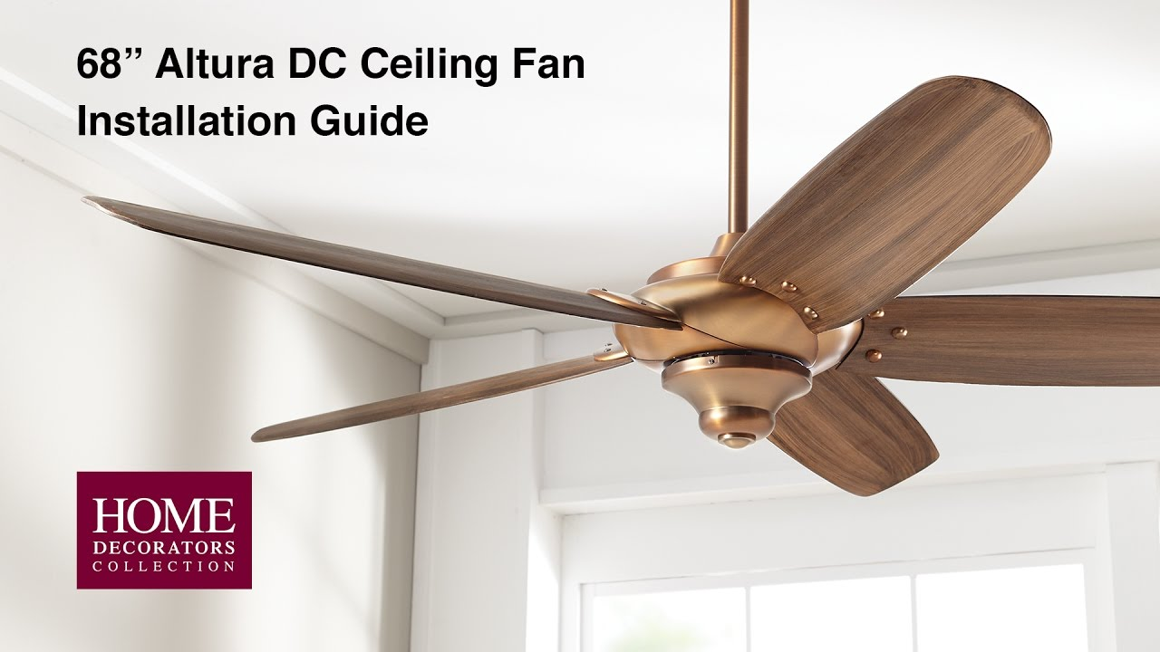 Altura DC 68 in. Ceiling Fan Installation - YouTube on