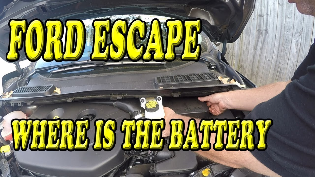 Ford Escape Where is the Battery Located - YouTube