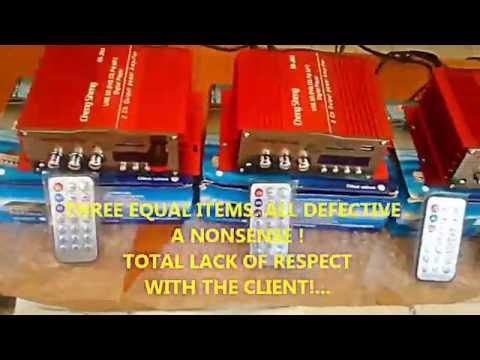 Sheng Sheng Amplifier Player FM Radio CarMotorcycle - A SHIT