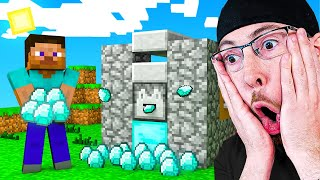 Download IF YOU LAUGH YOU DELETE MINECRAFT CHALLENGE! Unlimited Diamond HACK in Minecraft Animations Mp3 and Videos