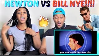 "Epic Rap Battles of History Season 3 ""Sir Isaac Newton vs Bill Nye"" REACTION!!!!"