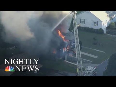Gas Leaks Set Off Multiple Explosions In Massachusetts, Multiple Injured | NBC Nightly News