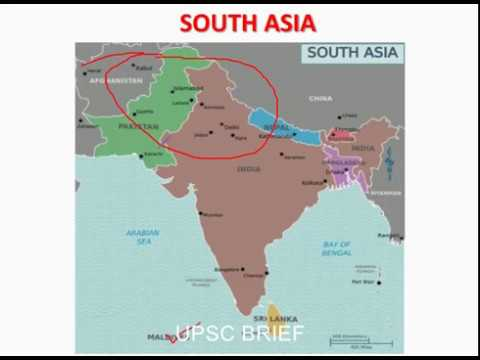 """SOUTH ASIA MAP"" in brief for UPSC;SSC"