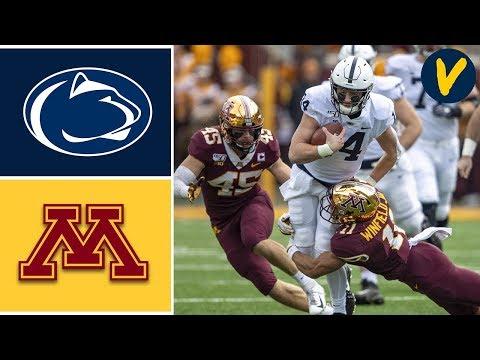 #4 Penn State vs #17 Minnesota Highlights   Week 11   College Football 2019