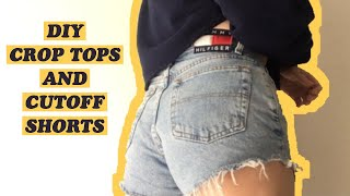 HOW TO DIY CROP TOPS AND THE PERFECT CUTOFF SHORTS