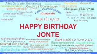 Jonte   Languages Idiomas - Happy Birthday