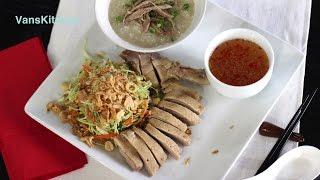 Vietnamese duck congee and cabbage salad (Cháo vịt và Gỏi vịt)