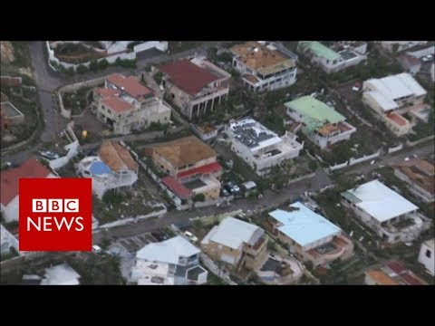 Hurricane Irma: Roofs blown off, houses under water in Sint-Maarten  - BBC News