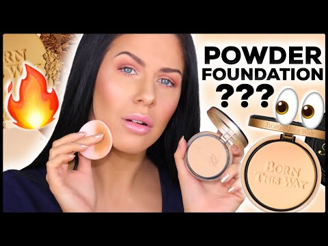 NEW TOO FACED BORN THIS WAY POWDER FOUNDATION!?? | REVIEW & WEAR TEST!! thumbnail