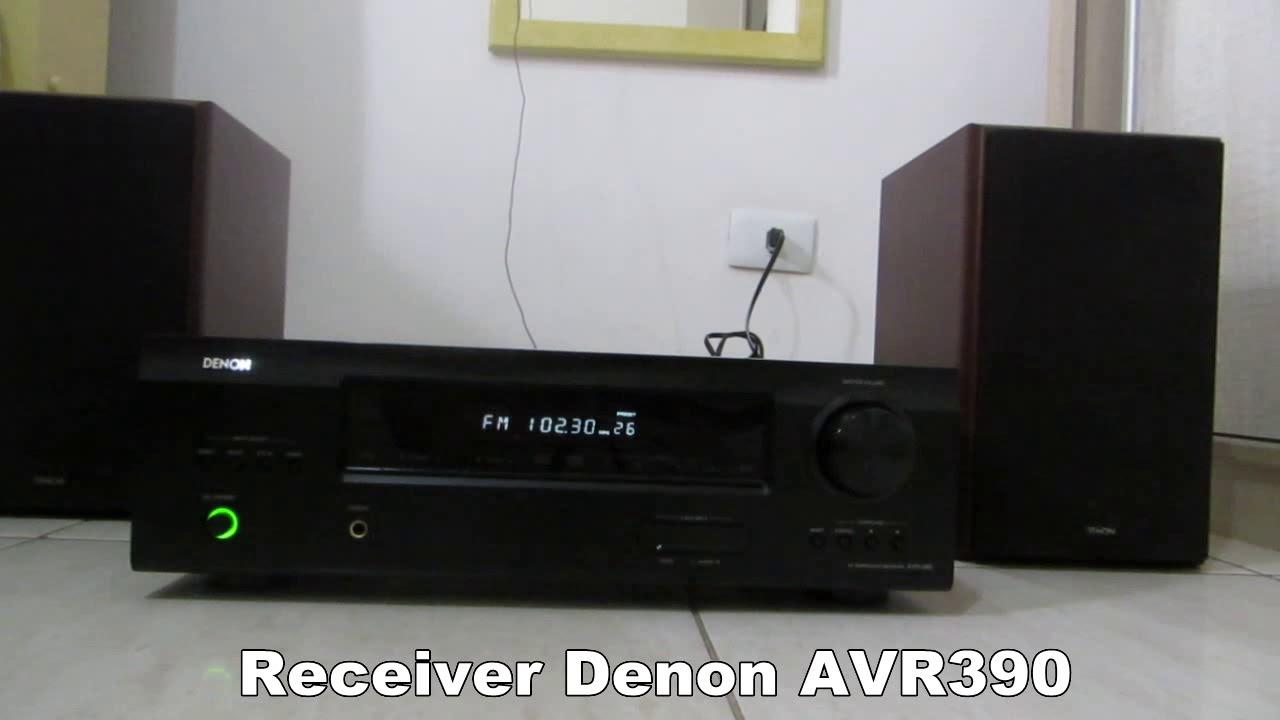 RECEVER AV DENON AVR 390