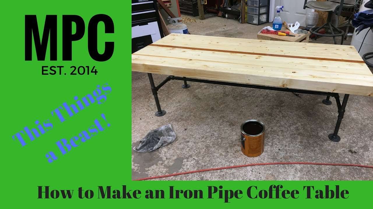 how to make an iron pipe coffee table - youtube