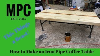 Iron Pipe Coffee Table