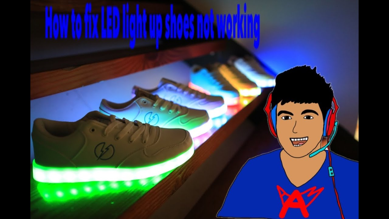 How to fix LED Light Up Shoes - YouTube