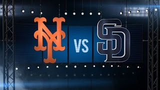 5/8/16: Mets withstand late Padres' push in a 4-3 win
