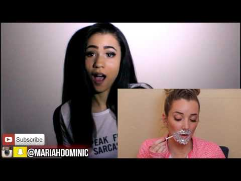 Thumbnail: A FACE FULL OF RHINESTONES by Jenna Marbles (REACTION VIDEO) | Mariah Dominic