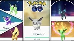Pokemon GO ALLE SHINY EVOLI ENTWICKLUNGEN BEKOMMEN! ENTWICKLUNGS-TRICK