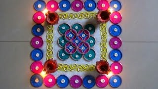 Easy and quick bangles rangoli | Innovative rangoli designs by Poonam Borkar