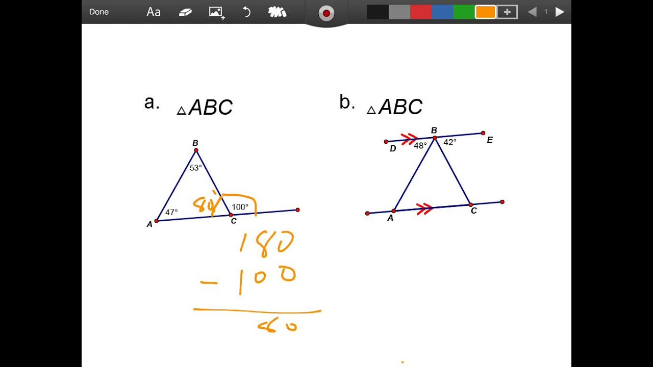 Classifing Triangles using Linear Pairs  Alternate