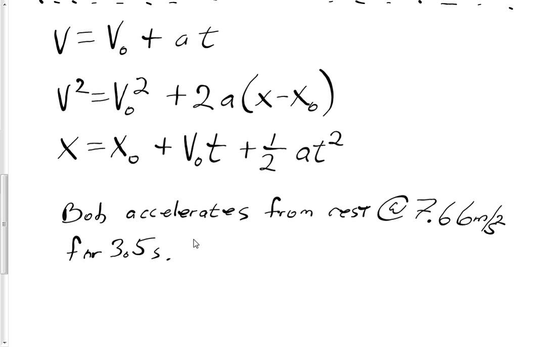 ap physics 1 vid 4 constant a kinematic equations youtube