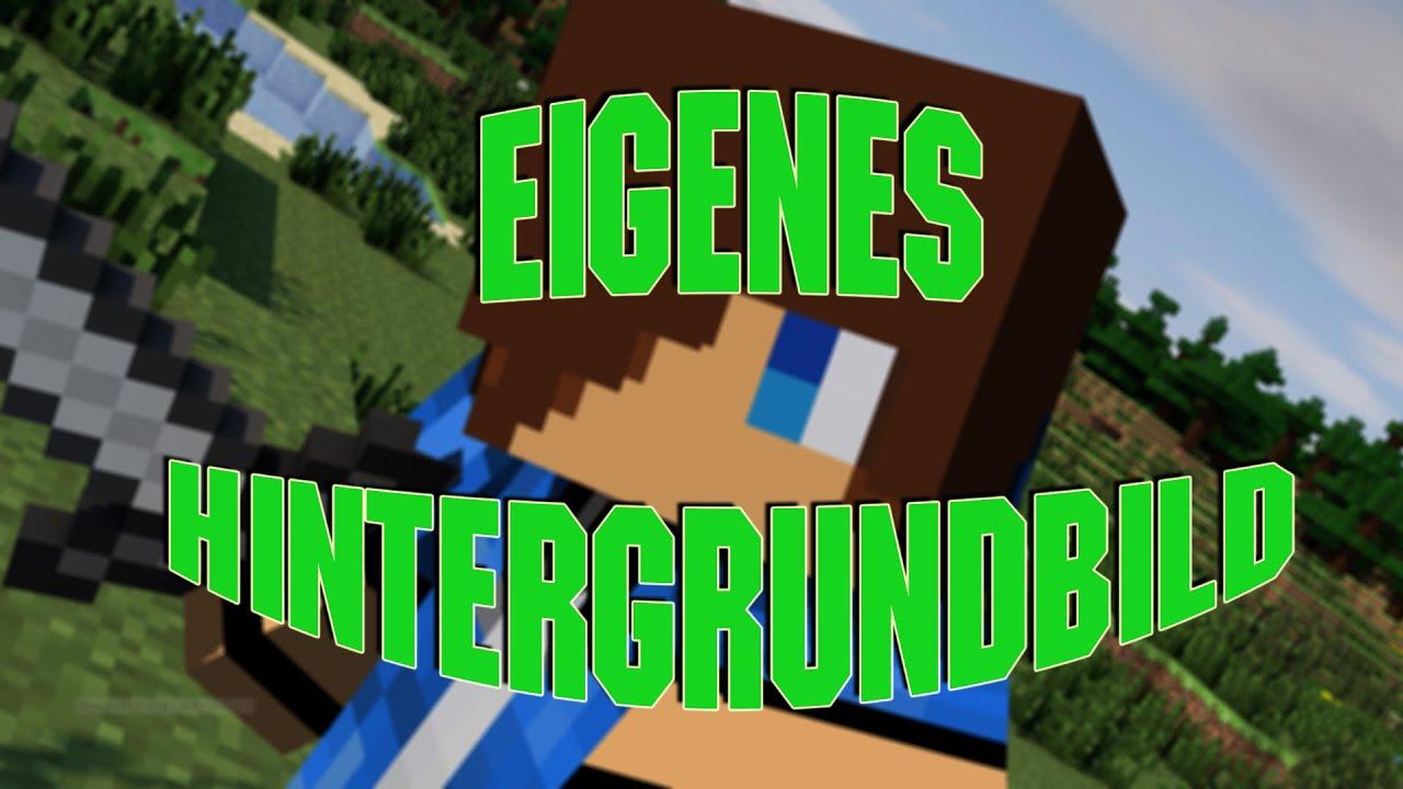 Minecraft Hintergrundbild Mit Eurem Skin Erstellen