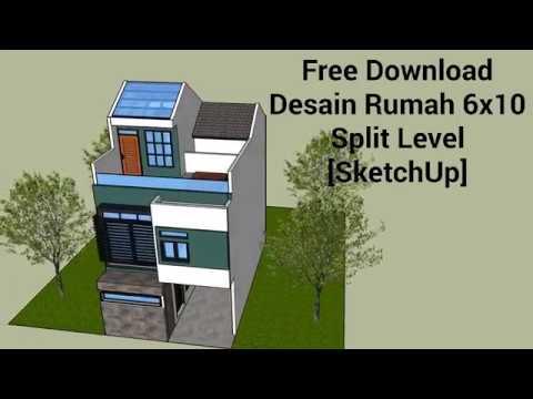 Desain Rumah ukuran tanah 6x10 Sweet Home 3D by Gorro Home Design