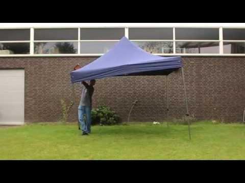 Easy up partytent van Buitenkado.nl staat binnen 45 sec!