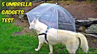 Repeat youtube video 5 Umbrella Gadgets put to the Test