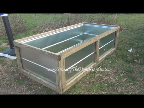 Building a Metal Raised Bed for the Vegetable Garden Videowmv