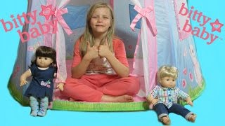 American Girl Bitty Baby Tent Unboxing!  By Bitty Baby Channel
