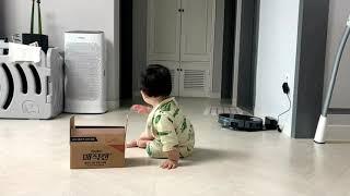 (육아) 14개월 아기 로봇청소기가 무섭습니다