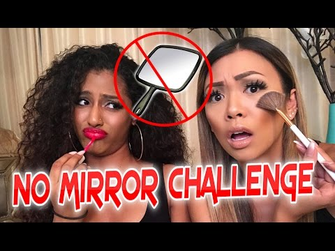 NO MIRROR MAKEUP CHALLENGE WITH JANINA (@Offical_Janina)
