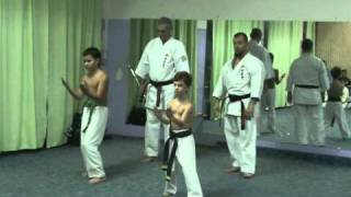 Children Sanchin kitae Shohei ryu / Uechi ryu kei Russia Hombu.MPG