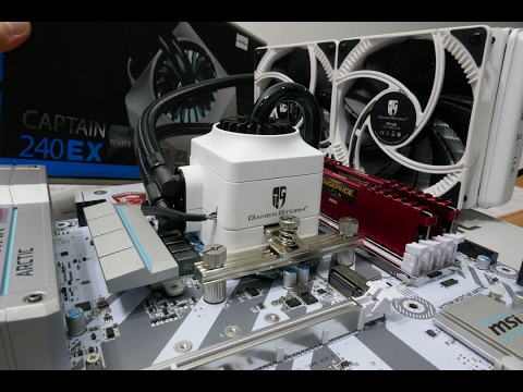 deepcool captain 240 ex white gamerstorm - aio cpu cooler unboxing,  overview and installation