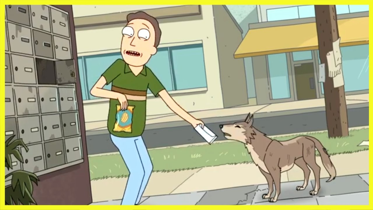 Dog Eats Jerry's Unemployment Check (Rick and Morty