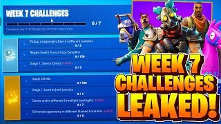 Week 7 Challenges LEAKED! Fortnite Season 6 Week 7 ALL CHALLENGES! (Battle Pass Challenges Week 7)