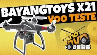 VOO TESTE DRONE BAYANGOTOYS X21 - CLONE DJI PHANTOM - DRONE BOM E B...