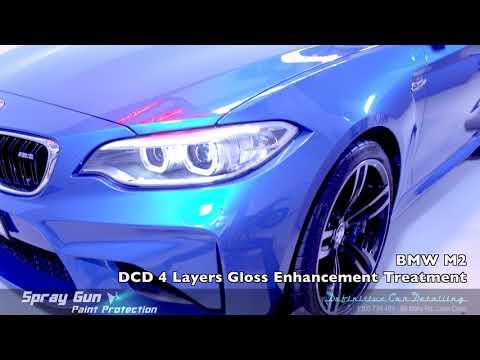 BMW M2 Long Beach Blue Definitive Sydney Spray Gun 4 Layers Paint Protection Gloss Enhancement Treat