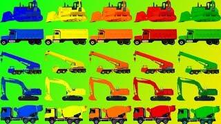 Vrachtwagens en Bouwvoertuigen Bulldozer, Kraan, Graver , Mixer voor Kinderen